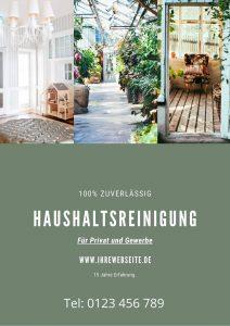 Flyer für Gebäudereinigung